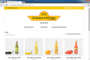 Screenshot C-Food Online Shop.fw
